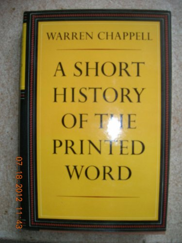 9780233957395: Short History of the Printed Word (A 'New York Times' book)