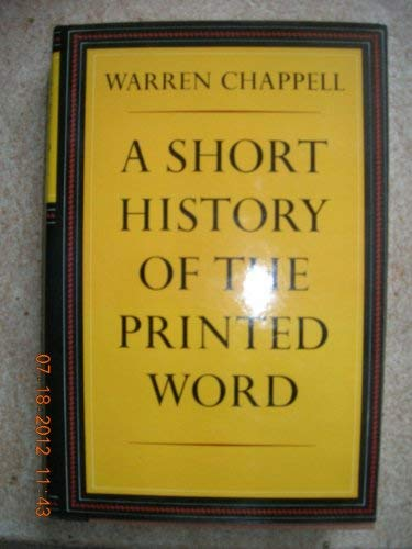 9780233957395: A Short History of the Printed Word