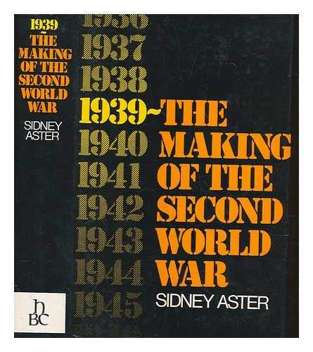 9780233963693: 1939: Making of the Second World War