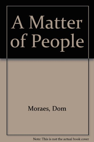 Stock image for A Matter of People for sale by Better World Books