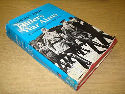 9780233965802: Hitler's War Aims: The Establishment of the New Order v. 2