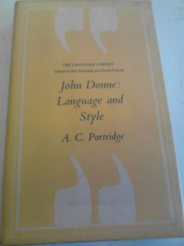 9780233970301: John Donne: Language and style (The Language library)