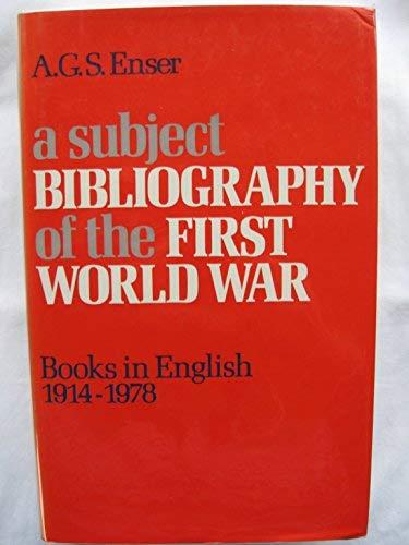 9780233971278: Subject Bibliography of the First World War (Grafton Books)