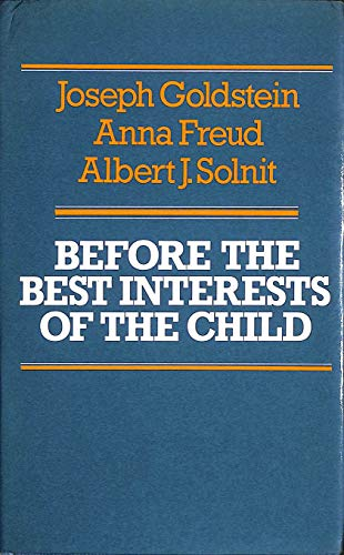 9780233972435: Before the Best Interests of the Child