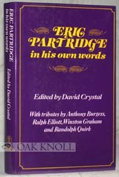 9780233973005: Eric Partridge in His Own Words