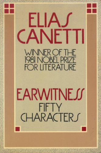 Earwitness: Canetti, Elias