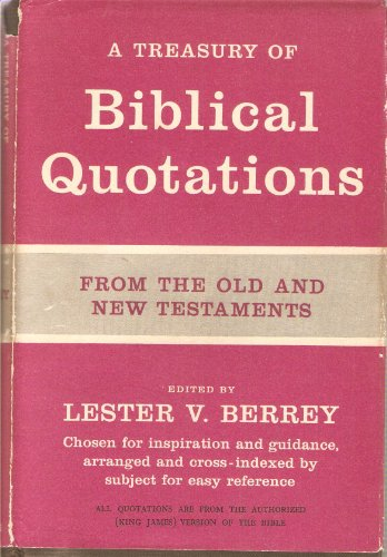 9780236177615: A Treasury of Biblical Quotations
