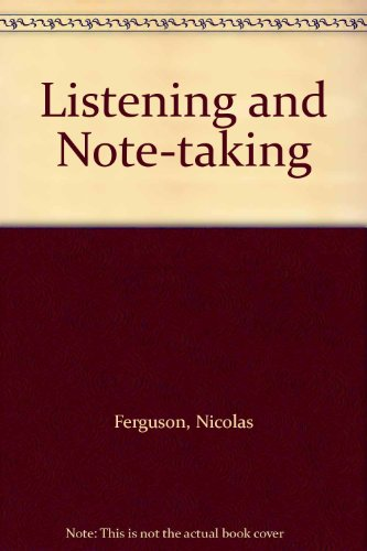 9780237503086: Listening and Note-taking