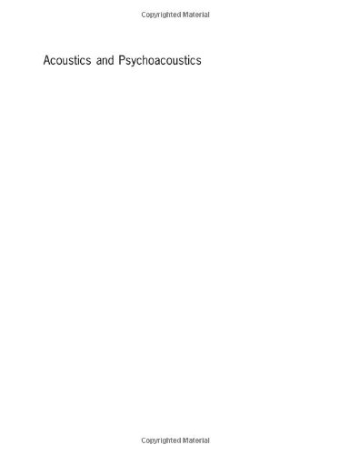 9780240516097: Acoustics and Psychoacoustics (Music Technology)
