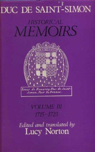 9780241016732: Memoirs of the Duc De Saint-Simon: 1715-23 v. 3