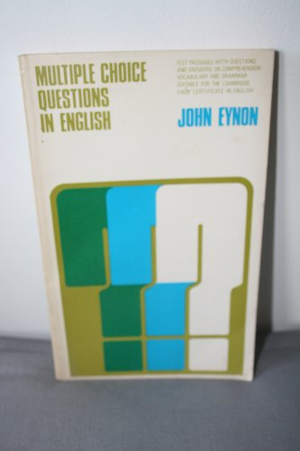 Multiple Choice Questions in English: Eynon, John