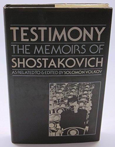 9780241103210: Testimony: Memoirs of Dmitri Shostakovich
