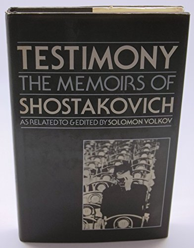 9780241103210: Testimony. The Memoirs of Shostakovich