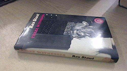 9780241895023: Three Witnesses (Fingerprint Books)