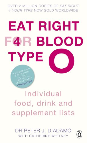 9780241954331: Eat Right for Blood Type O: Individual Food, Drink and Supplement lists