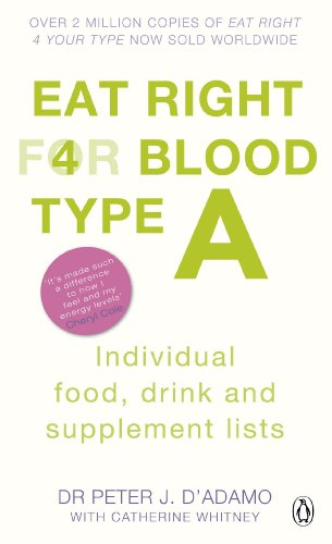 9780241954379: Eat Right for Blood Type A: Individual Food, Drink and Supplement lists (Eat Right for Your Blood Type)