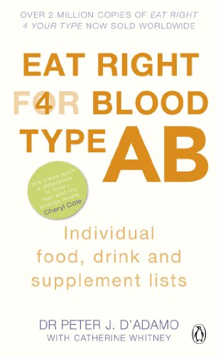 9780241954393: Eat Right for Blood Type AB: Individual Food, Drink and Supplement lists
