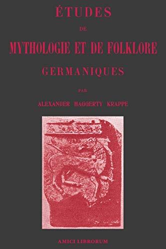 9780244693015: Études de Mythologie et de Folklore germaniques
