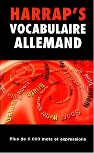 9780245503856: Vocabulaire allemand