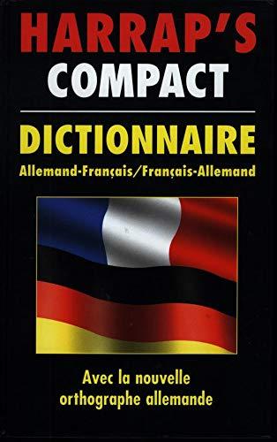 9780245504020: Harrap's Compact Dictionnaire [Allemand-Français/Français-Allemand]
