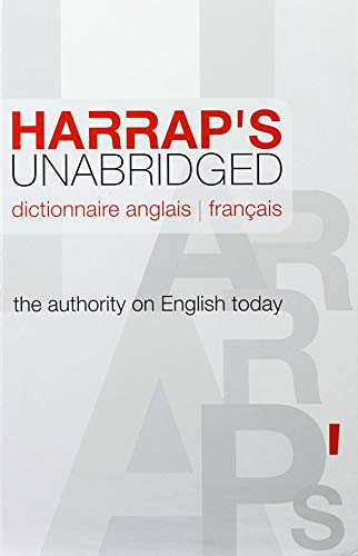 Harrap s Unabridged: Volume 1, Dictionnaire anglais-francais (French Edition) (9780245507922) by Harrap