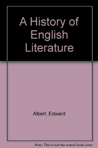 9780245532474: A History of English Literature