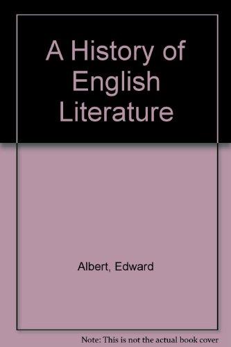 9780245532474: History of English literature