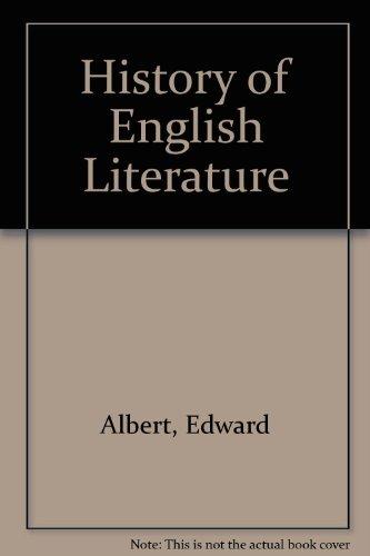 9780245534386: History of English literature