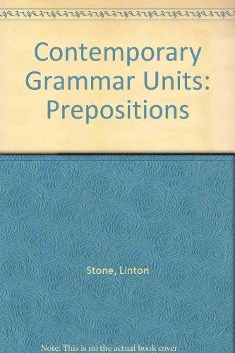 9780245537707: Contemporary Grammar Units: Prepositions Bk. 1