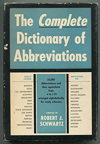 9780245556395: Complete Dictionary of Abbreviations