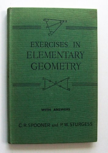 9780245559693: Exercises in Elementary Geometry: w.ans Bk. 1