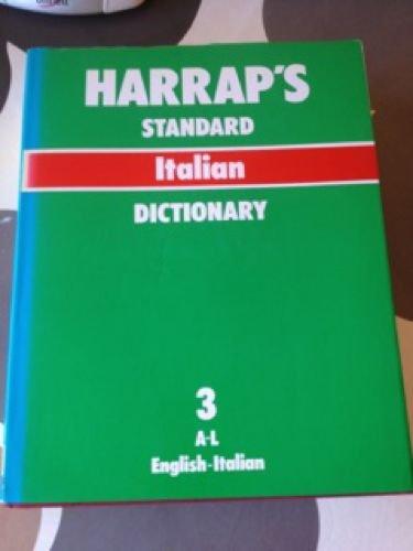Sansoni-Harrap Standard Italian and English Dictionary: English-Italian: Macchi, Vladimiro (ed)