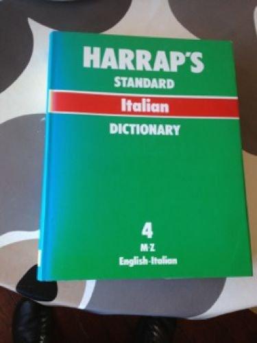 9780245596360: Sansoni-Harrap Standard Italian and English Dictionary, : English-Italian, Vol. 4: M-Z