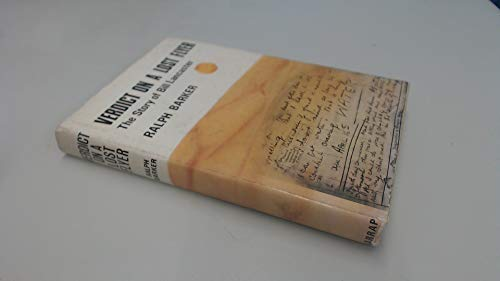 9780245596919: Verdict on a Lost Flyer: Story of Bill Lancaster