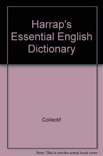 9780245605666: Harrap essential english dictionnary