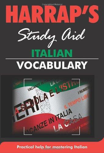 Italian Vocabulary (Harrap's Italian Study Aids)