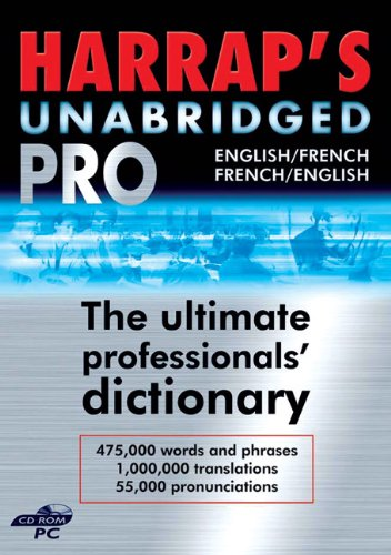 9780245607134: Harrap's French Unabridged PRO Dictionary on CD-ROM