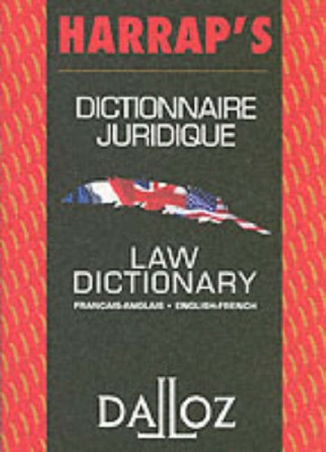 Harrap's Dalloz French English Law Dictionary (English and French Edition)