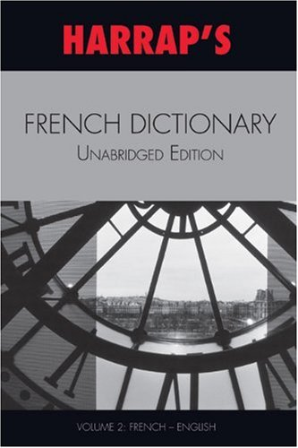 9780245607462: Harrap's French Dictionary Unabridged Edition Vol 2 (French-English)