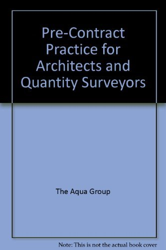 9780246113382: Pre-Contract Practice for Architects and Quantity Surveyors