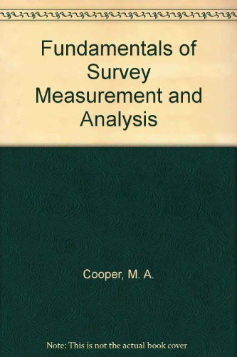 9780246119179: Fundamentals of Survey Measurement and Analysis