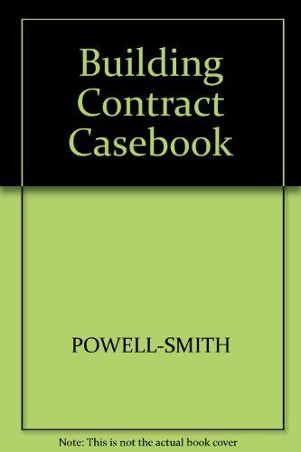 9780246121080: Building Contract Casebook