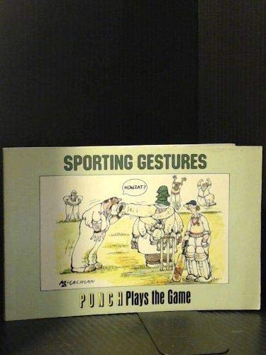 """9780246134004: Sporting Gestures: """"Punch"""" Plays the Game (""""Punch"""" cartoons)"""