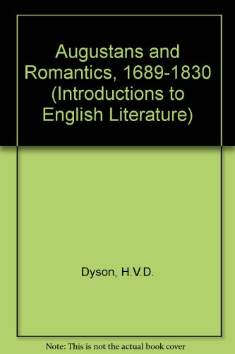 9780248983402: Augustans and Romantics, 1689-1830 (Introductions to English Literature)