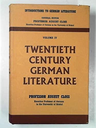 9780248989947: Twentieth Century German Literature (Introductions to German Literature)