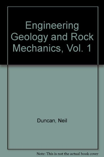 9780249439786: Engineering Geology and Rock Mechanics, Vol. 1