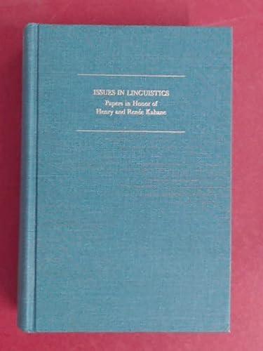 ISSUES IN LINGUISTICS: Braj B Kachru