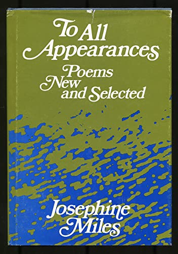 9780252004391: To all appearances;: Poems new and selected