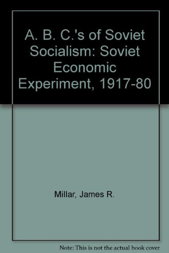 an analysis of the soviet socialist experiment and the great utopian adventure The early soviet system of 1917 although i'm definitely not a leninist, i did admire the way the very early stages of soviet.