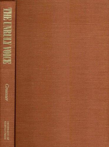 9780252022302: The Unruly Voice: Rediscovering Pauline Elizabeth Hopkins